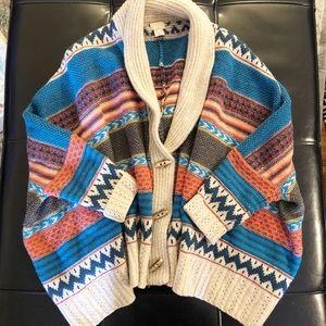 Boho oversized comfy slouchy cardigan sweater OS